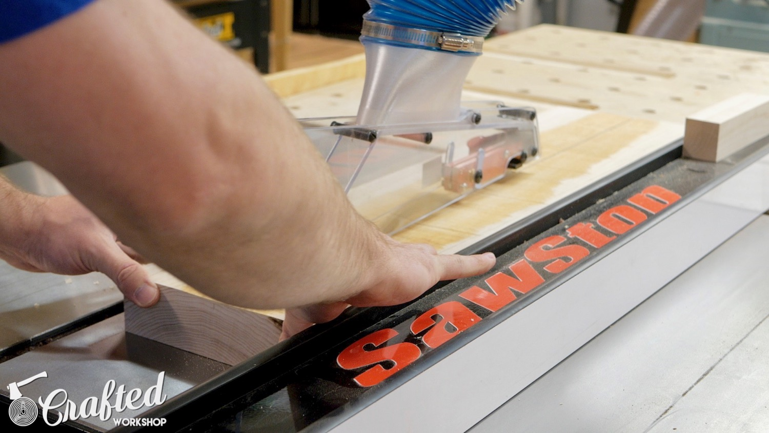 ripping hard maple on sawstop ics table saw