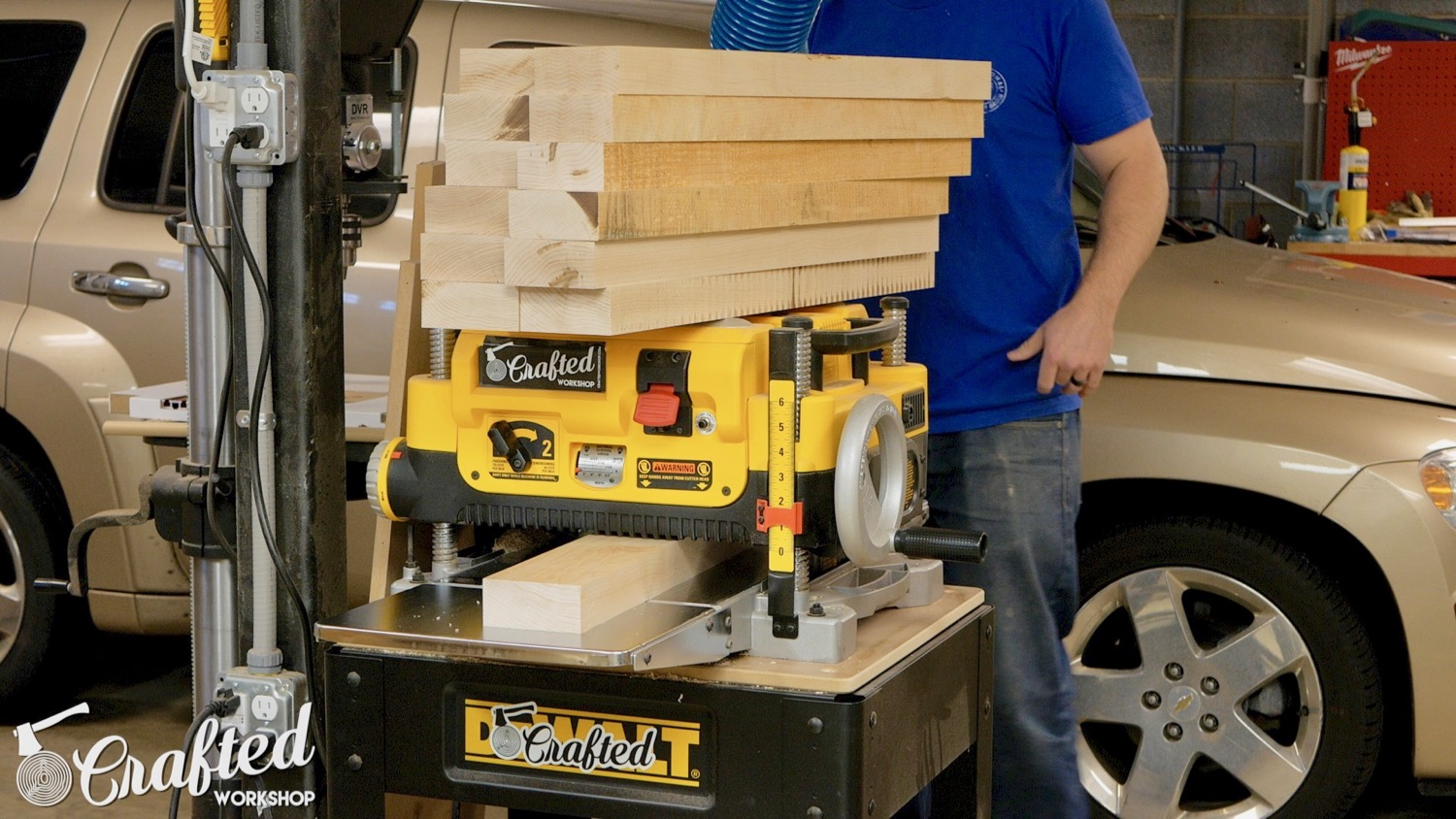 planing hard maple on dewalt dw735 planer