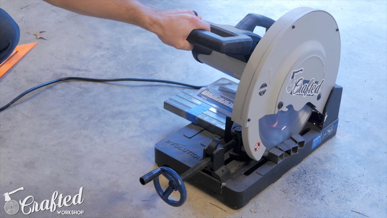 cutting steel tubing on evolution evosaw380 metal cutting saw