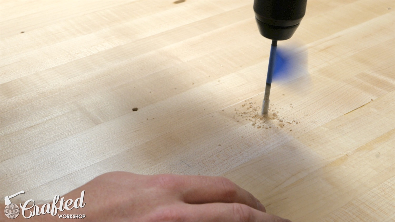 threading holes in wood using wood whisperer thread taps