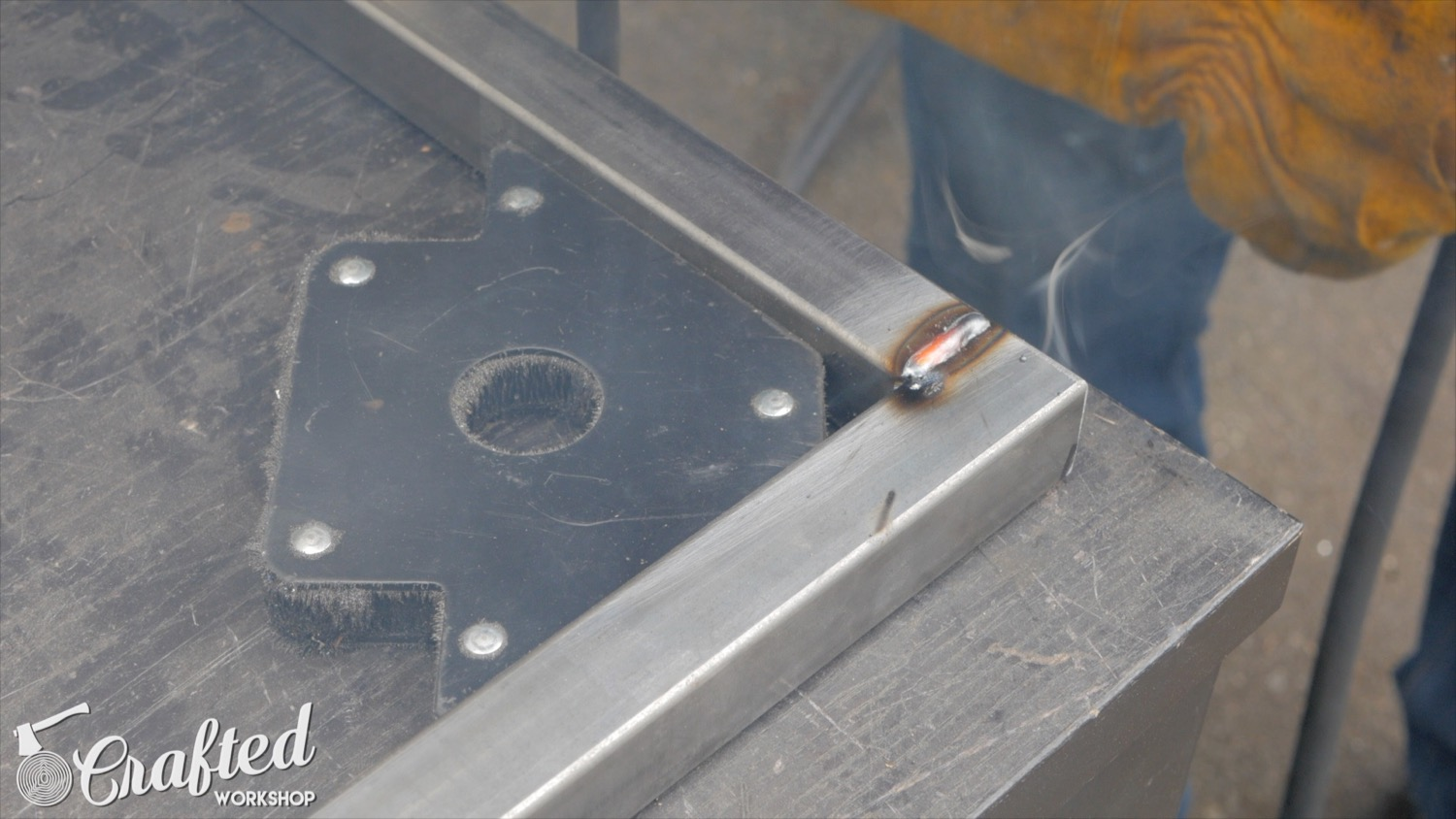 welding 1 inch square tubing with lincoln electric power mig 210mp