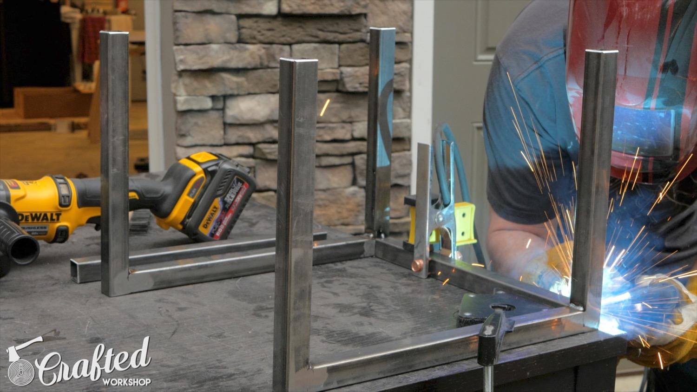 welding metal table bases