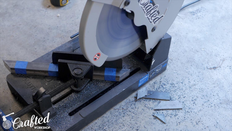 cutting steel flat bar on evolution metal cutting saw