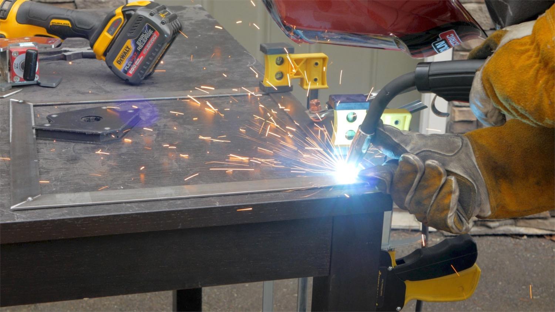 welding flat steel bar