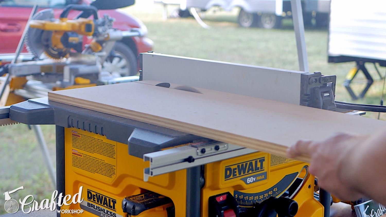 ripping 3/4 plywood with the dewalt flexvolt table saw