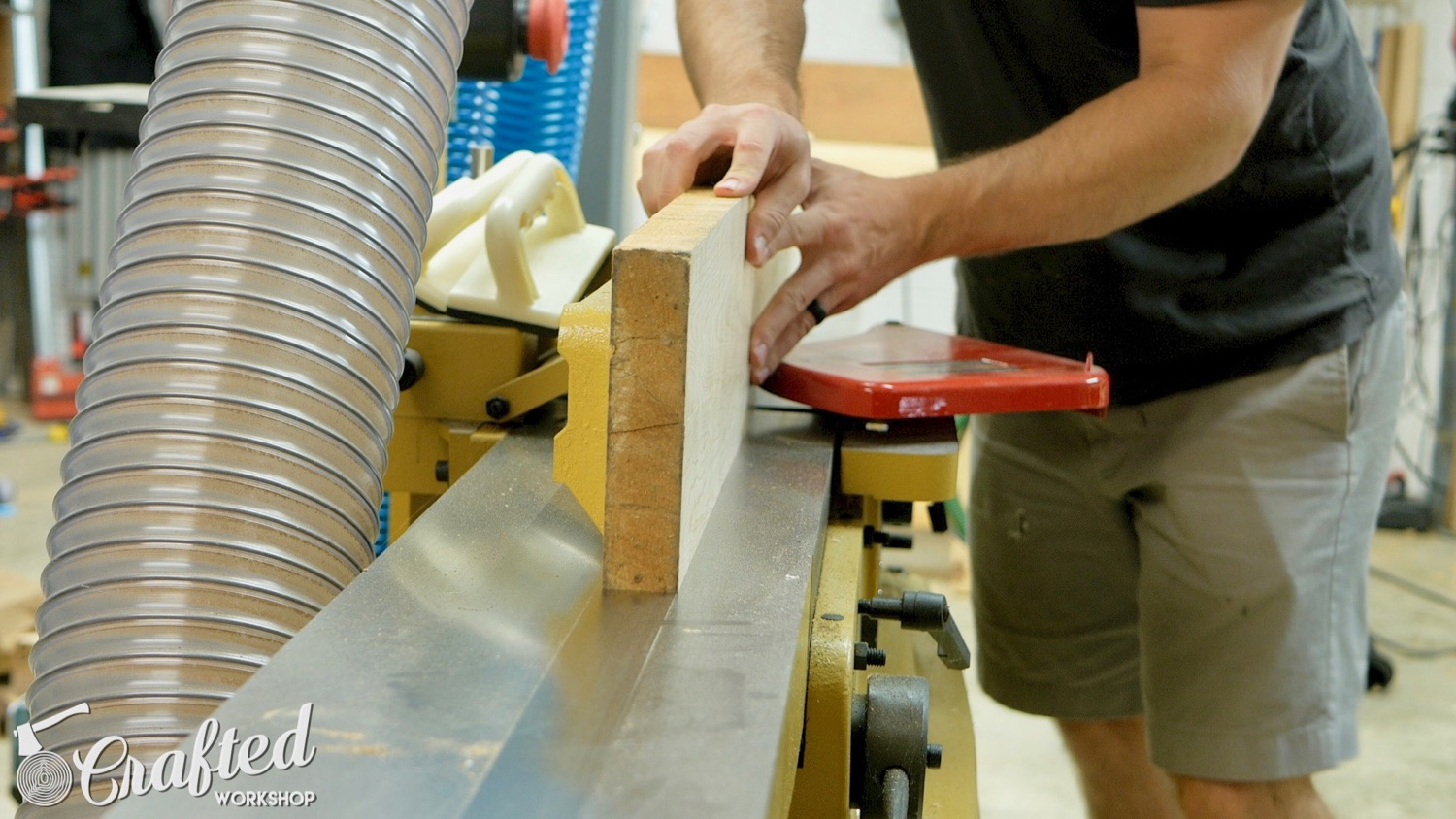 Jointing Soft Maple on a Powermatic jointer