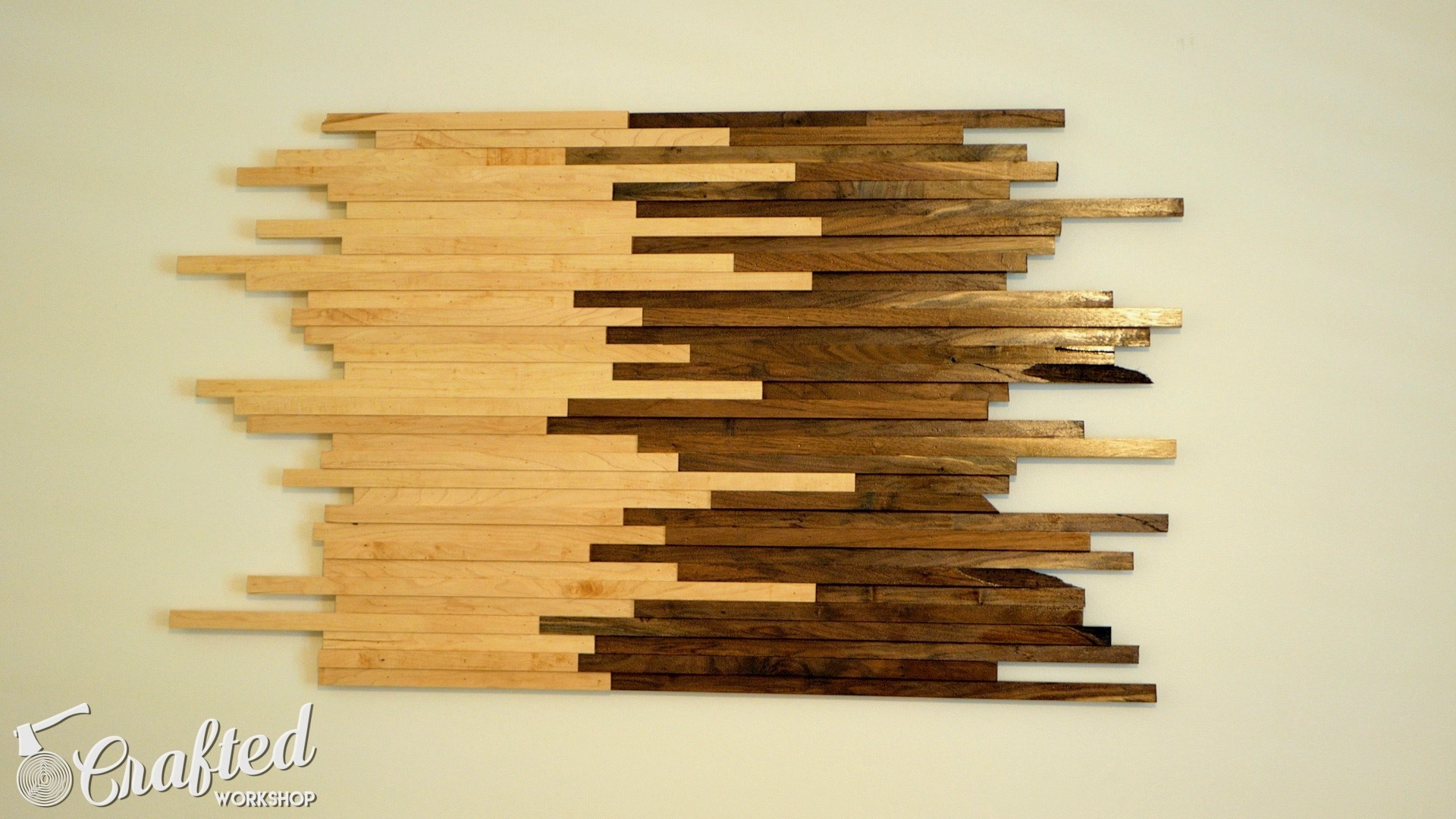 Scrap Wood Wall Art Made From Walnut & Maple | How To Build - Woodworking - 13.jpg