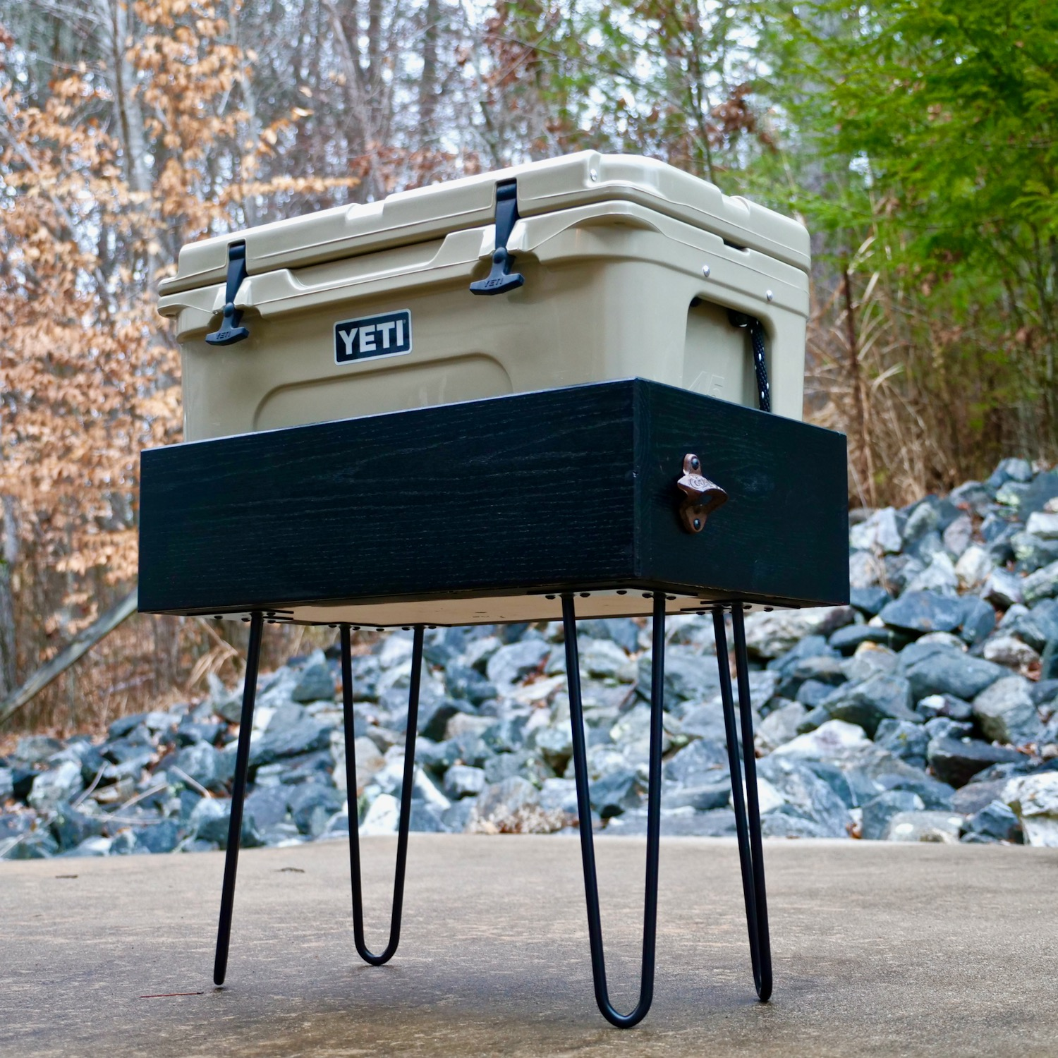 yeti cooler patio stand diy crafted workshop