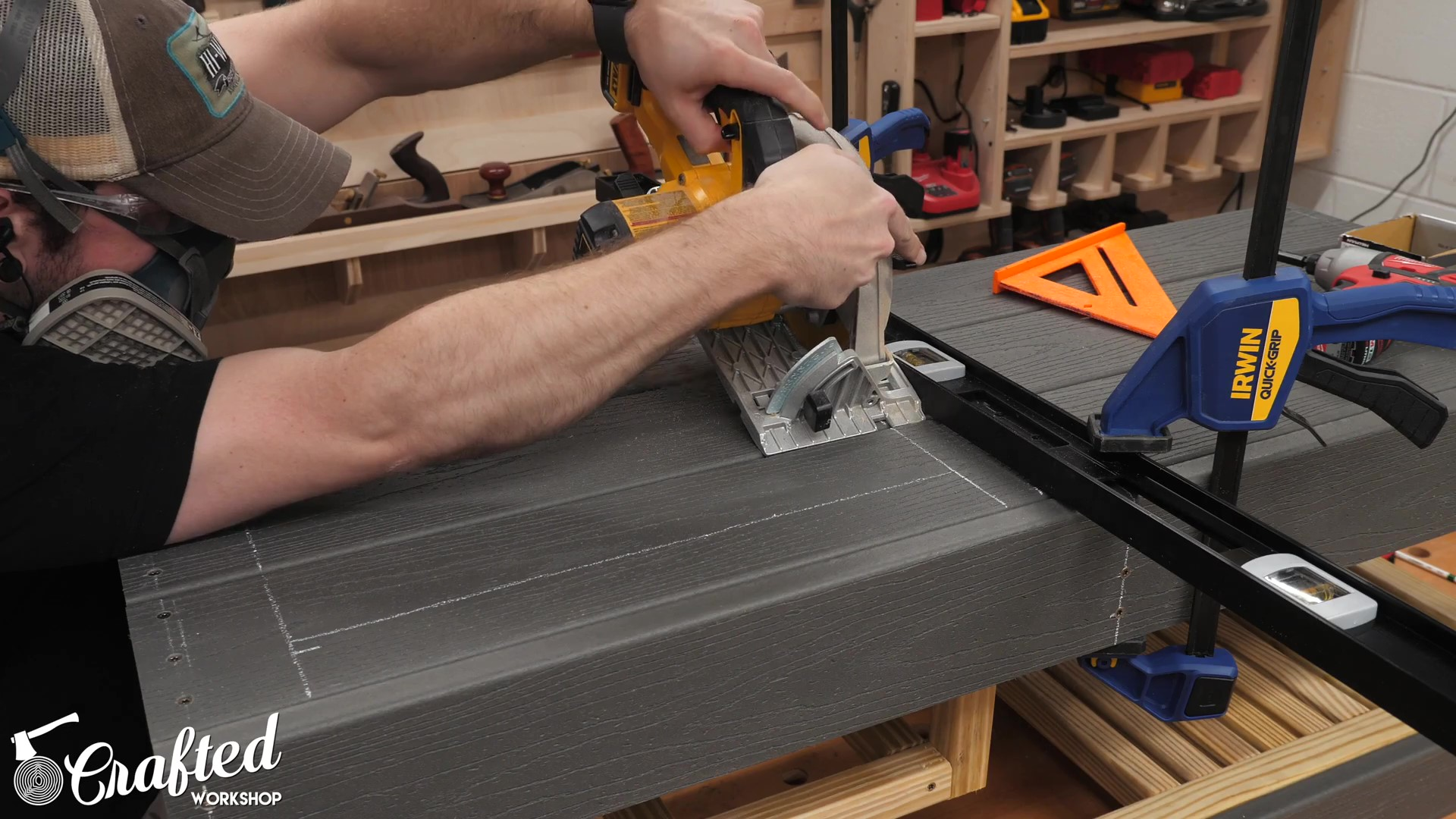 Making a plunge cut with a circular saw