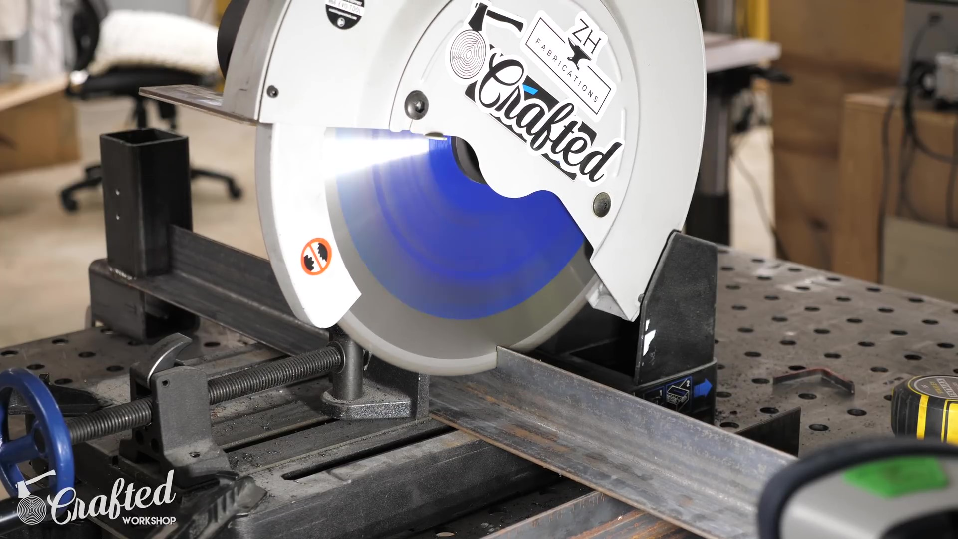 Cutting Angle Iron for Legs