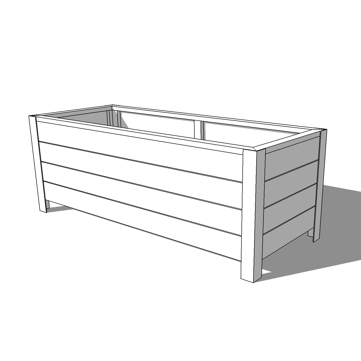 diy modern planter box plans