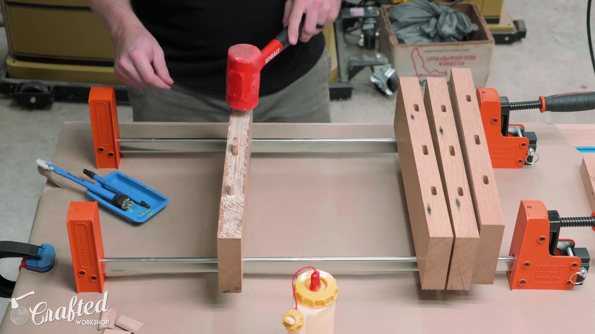 Gluing up the Table Top