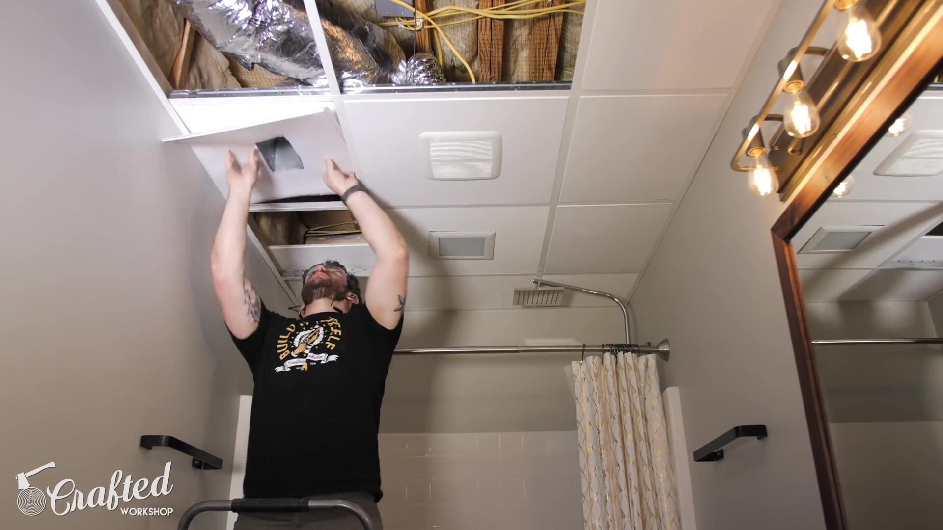 Installing Decorative Ceiling Tiles