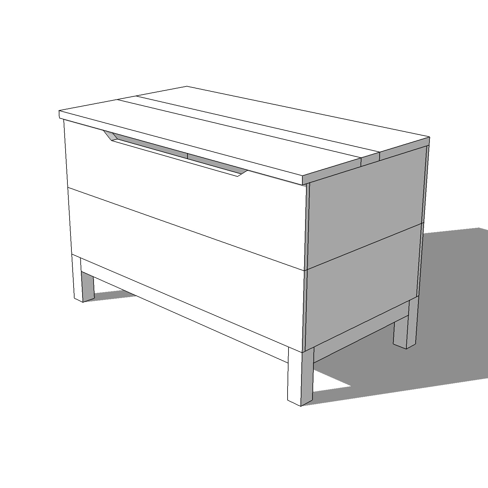 Diy Modern Blanket Chest Or Toy Box Plans Crafted Workshop