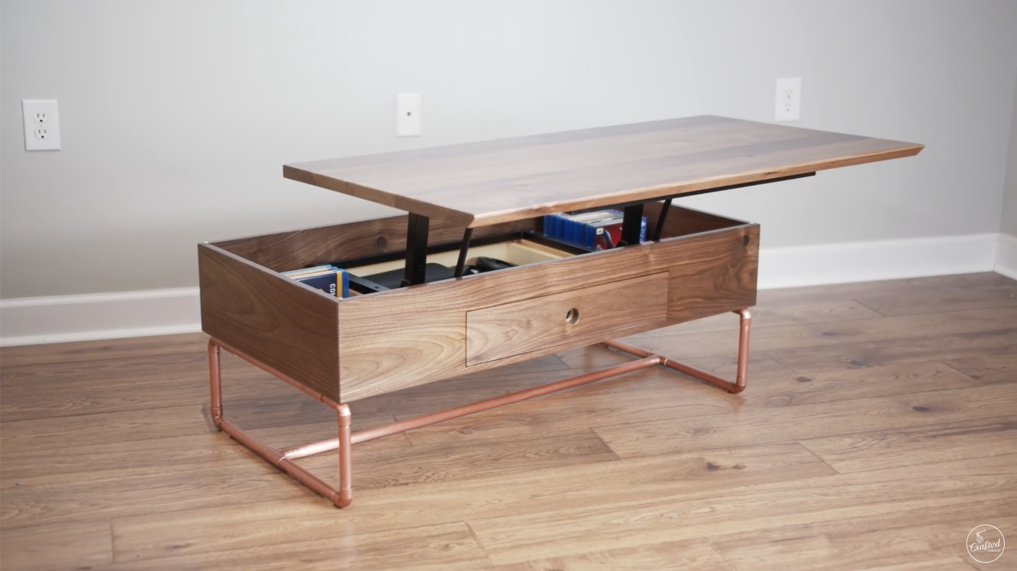 Lift Top Coffee Table With Storage Plans Crafted Work