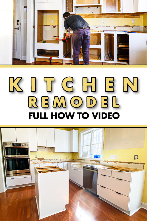 How To Install Kitchen Cabinets And Remove Them Kitchen Remodel Pt 1 Crafted Workshop