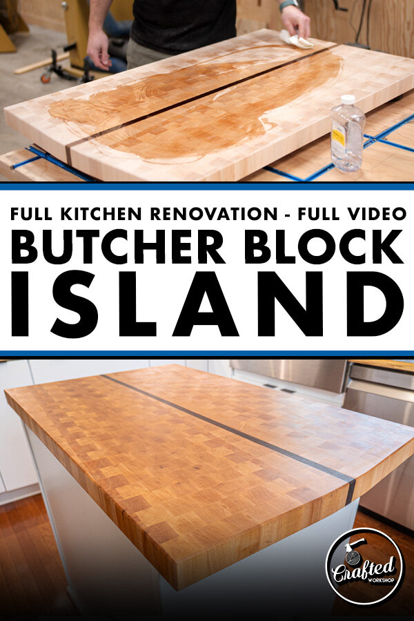 Building A Giant Cutting Board For My Kitchen Island Remodel Pt 4 Crafted Workshop