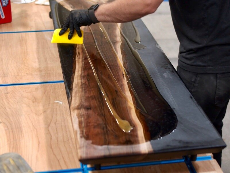 How To Build A Live Edge Epoxy Resin Reverse River Table Crafted Workshop