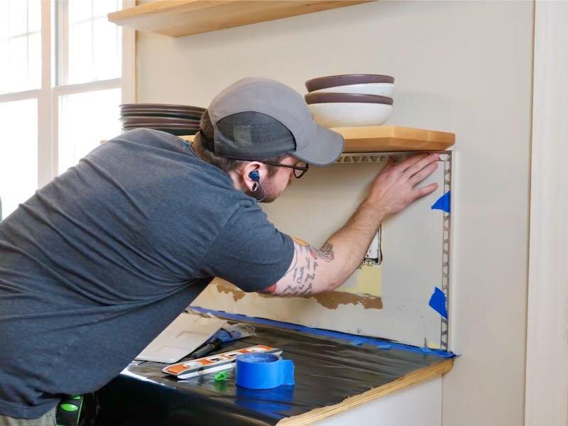 How To Install Subway Tile Installing Tile Backsplash For The First Time Crafted Workshop