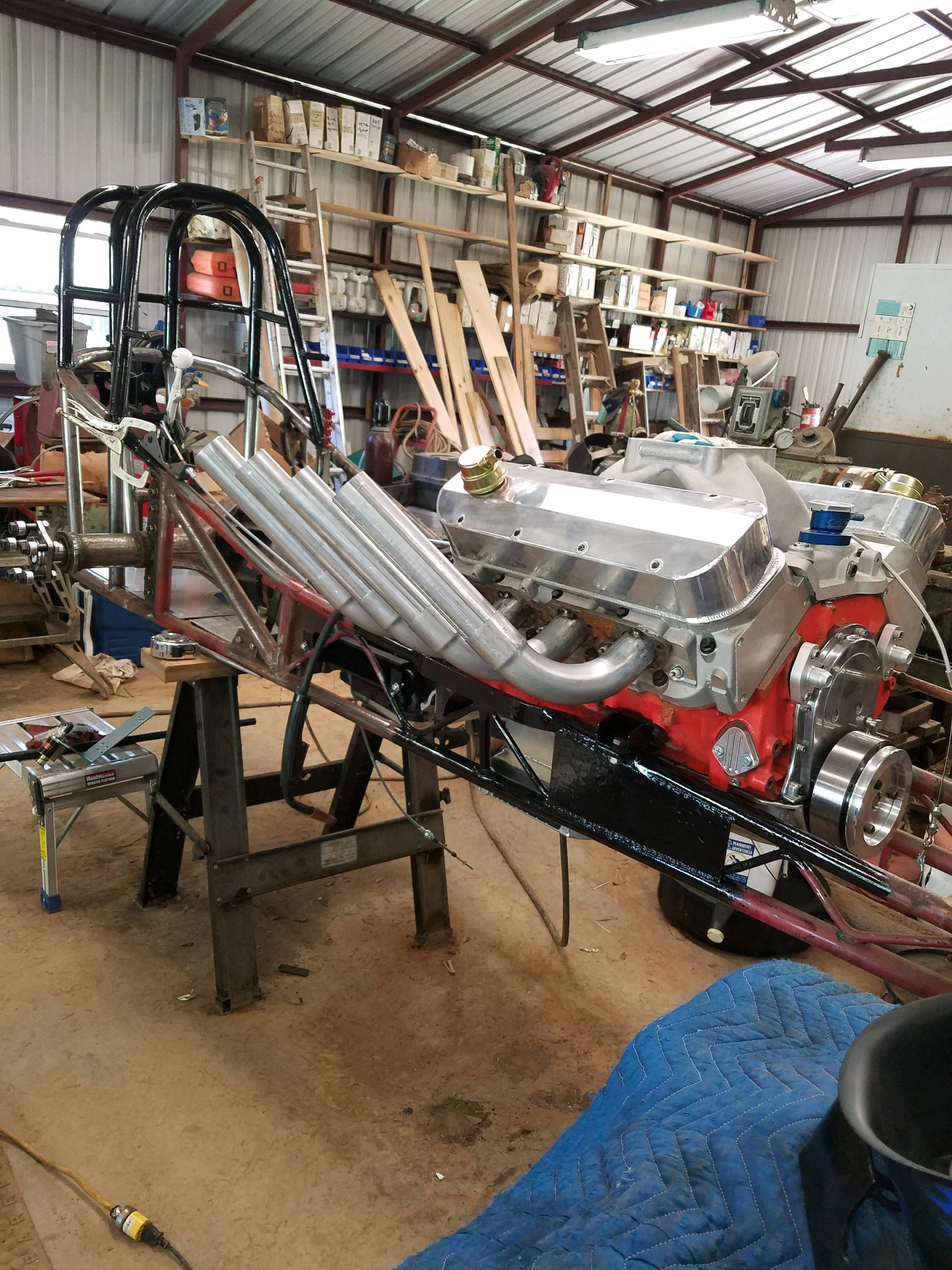 Front engine dragster with BBC