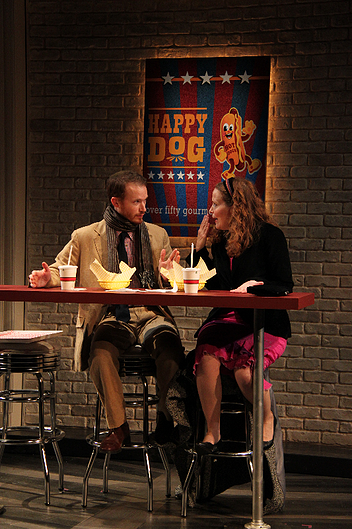 Rex Daugherty and Michelle Six in Becky Shaw at Round House Theatre