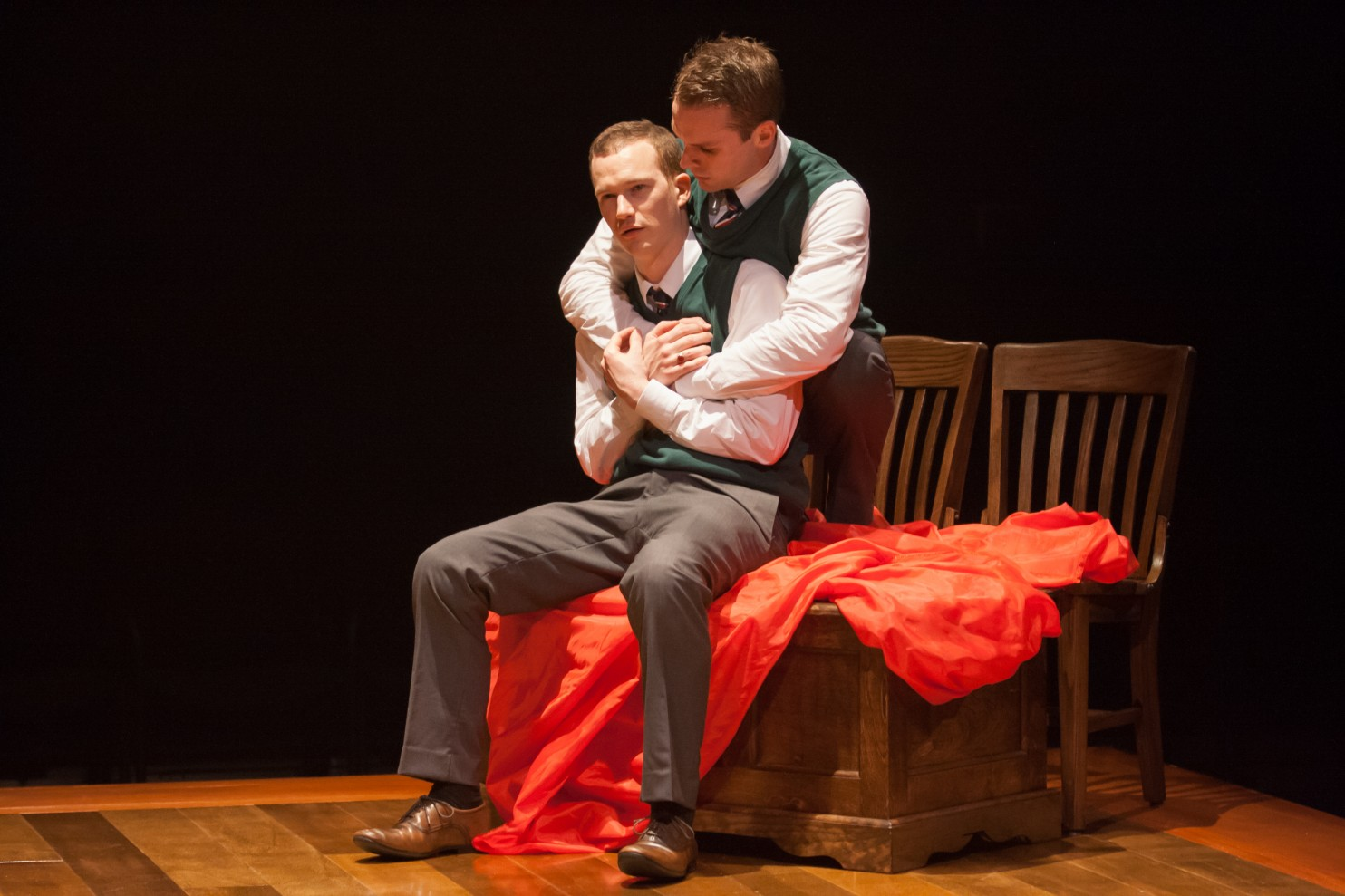 Rex Daugherty and Jefferson Farber in Shakespeare's R&J at Signature Theatre