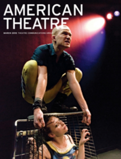 Rex Daugherty & Madeleine Carr on the cover of American Theatre Magazine - NYC Premiere of Disco Pigs, Off Broadway 59E59