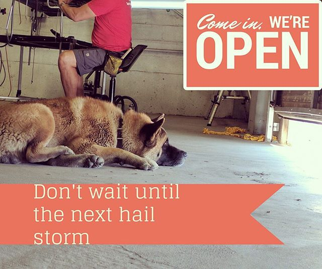 Don't wait until the next #hail storm. Let us fix it up! You pay for it through your #insurance so why not take advantage of it?!