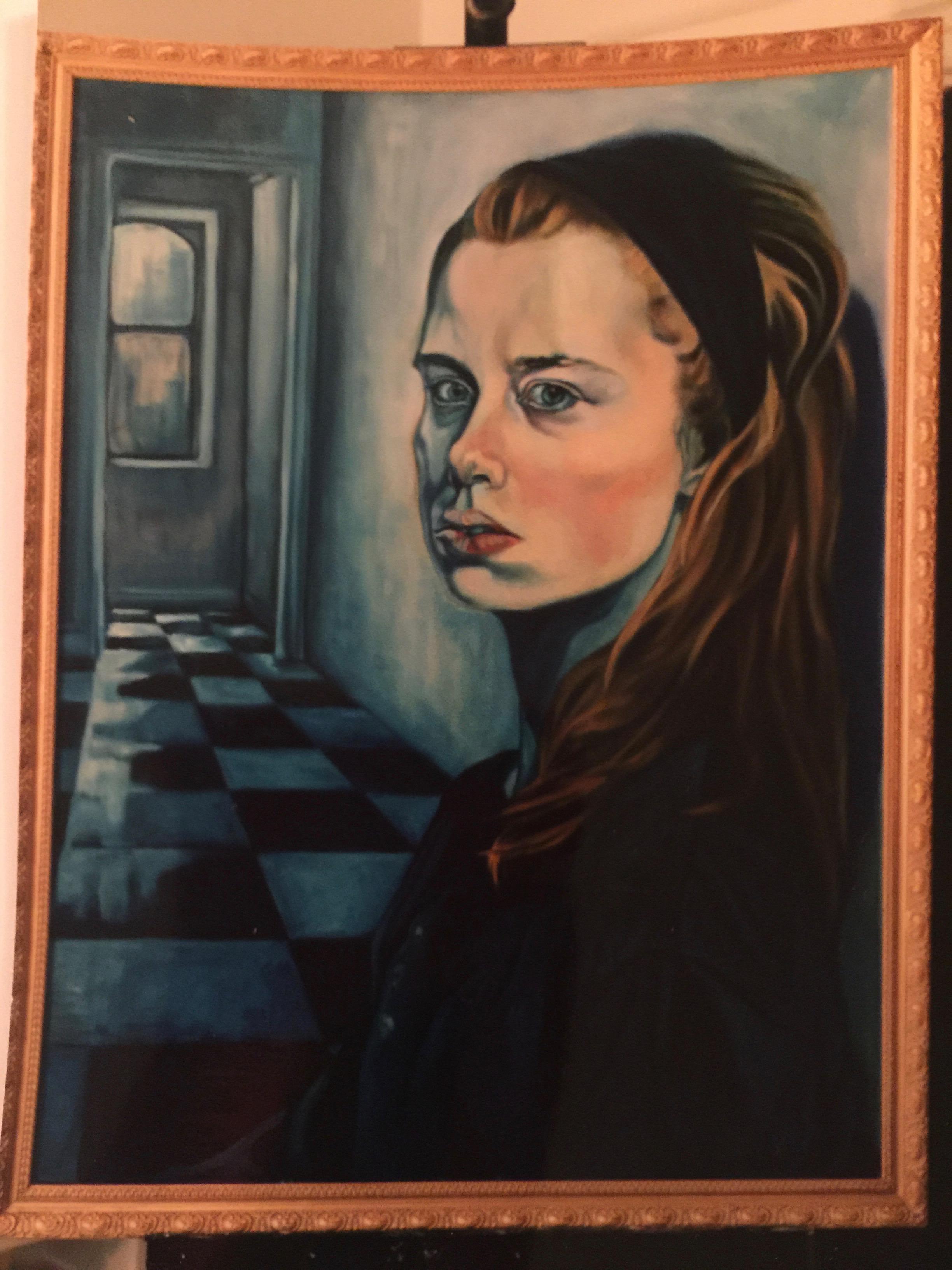 Self Portrait Looking East then West, 1998
