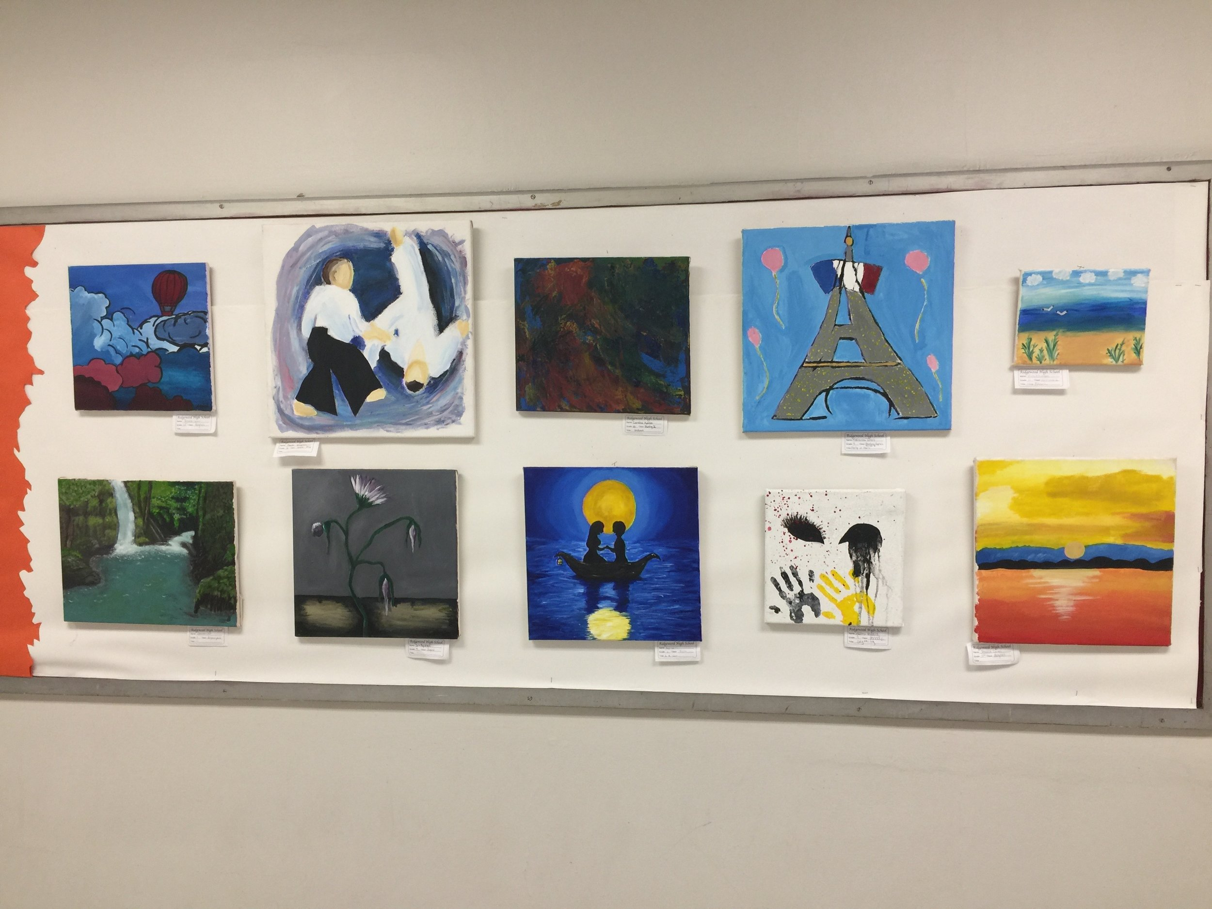 Installation View of Ridgewood High School's Celebration of the Arts