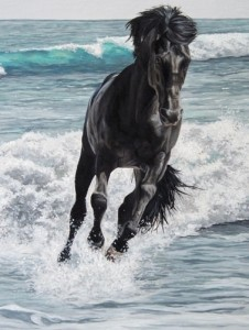 The-black-stallion-in-water-painting-the-black-stallion-13310946-378-500