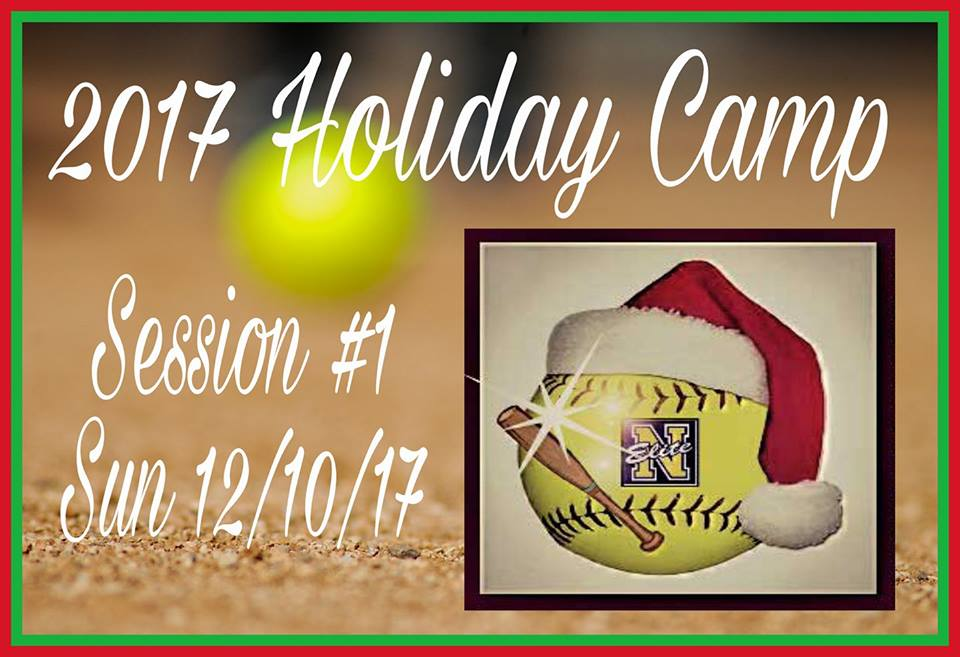 Camp Sessions - 12/10 Sun 9a-1p - Field Practice @ Discovery Sports Complex12/11 Mon - Hitting @ Triple Play Cages12/13 Wed 5p-9p - Field Practice @ Discovery Sports Complex12/17 Sun 9a-1p - Field Practice @ Discovery Sports Complex12/18 Mon - Hitting @ Triple Play Cages12/20 Wed 5p-9p - Field Practice @ Discovery Sports Complex12/23 Sat 9a-1pm - Field Practice @ Discovery Sports Complex12/27 Wed 4p-630p - Field Practice followed by Camp Coaches and Alumni vs Nemesis Elite 18u Gold. (Game starts at 7:00pm).12/30 Sat 9a-1p - (Rain Make-Up Day) Field Practice @ Discovery Sports Complex