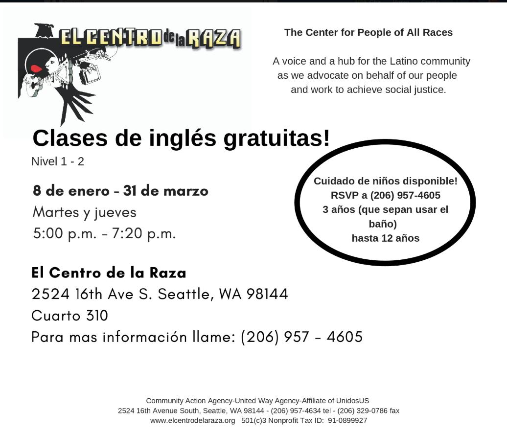 Centro de la raza clases de ingles .png