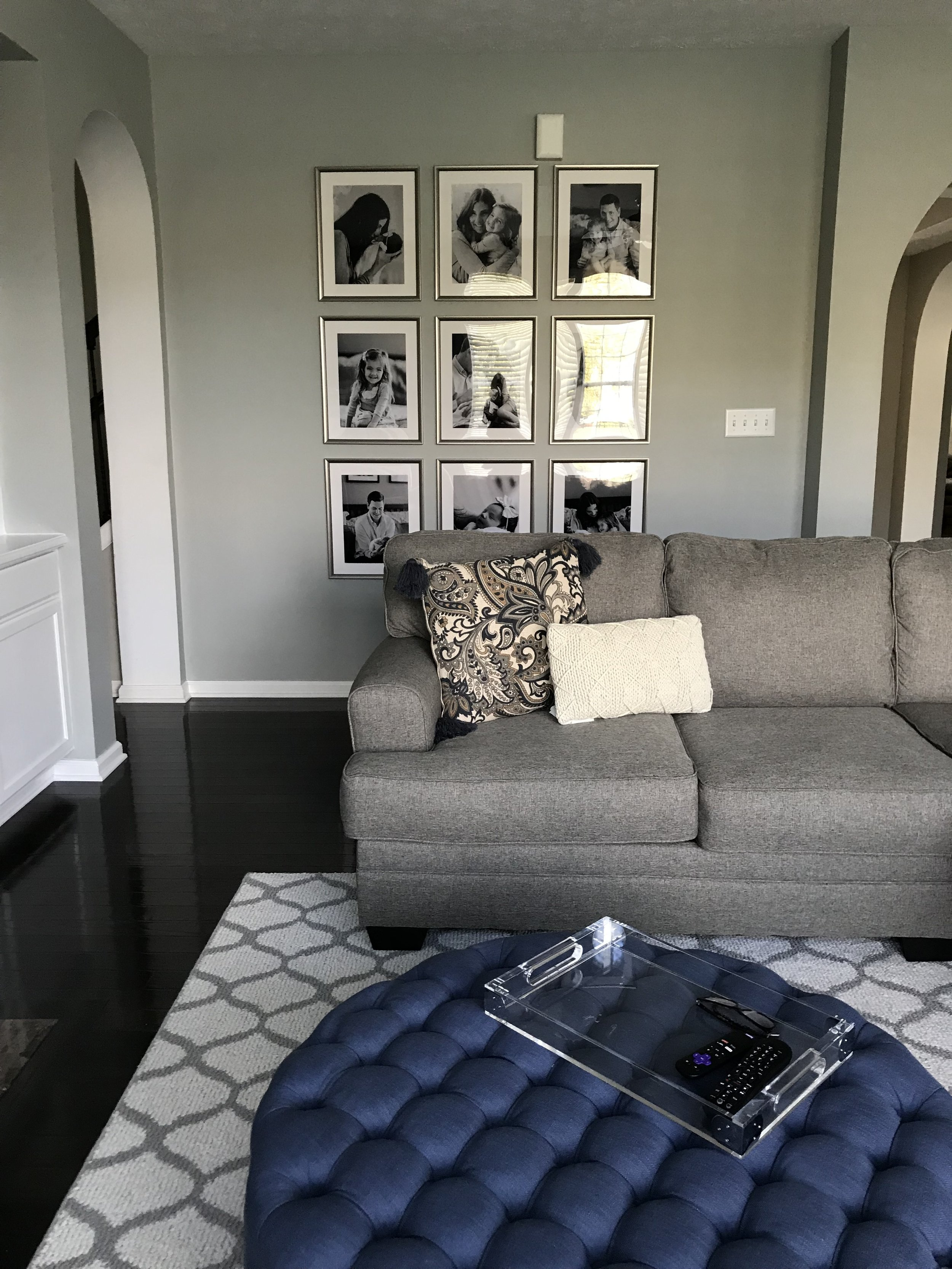 Gallery Wall - Ikea Frames and Costco Prints