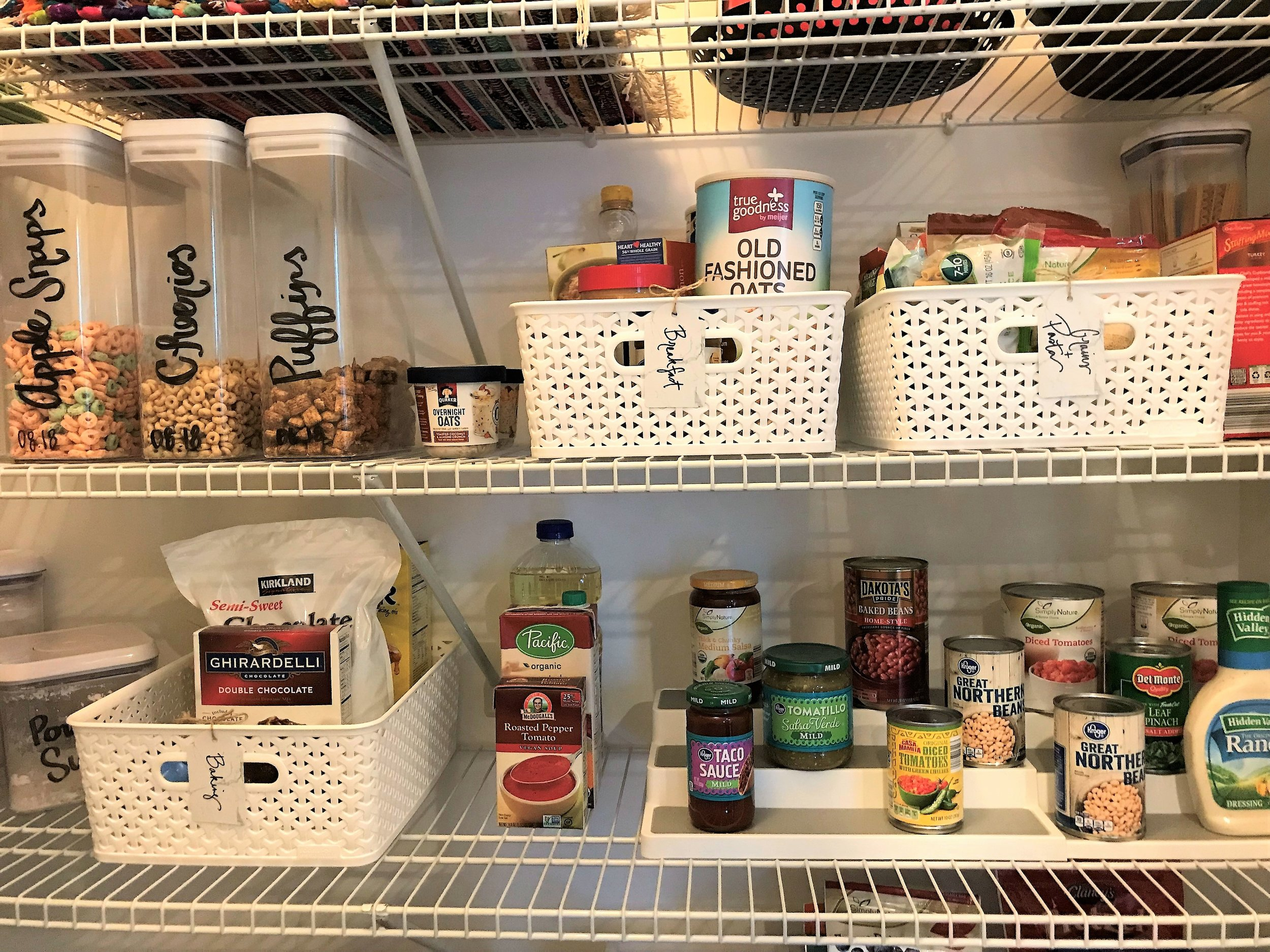 Organized Pantry for Four