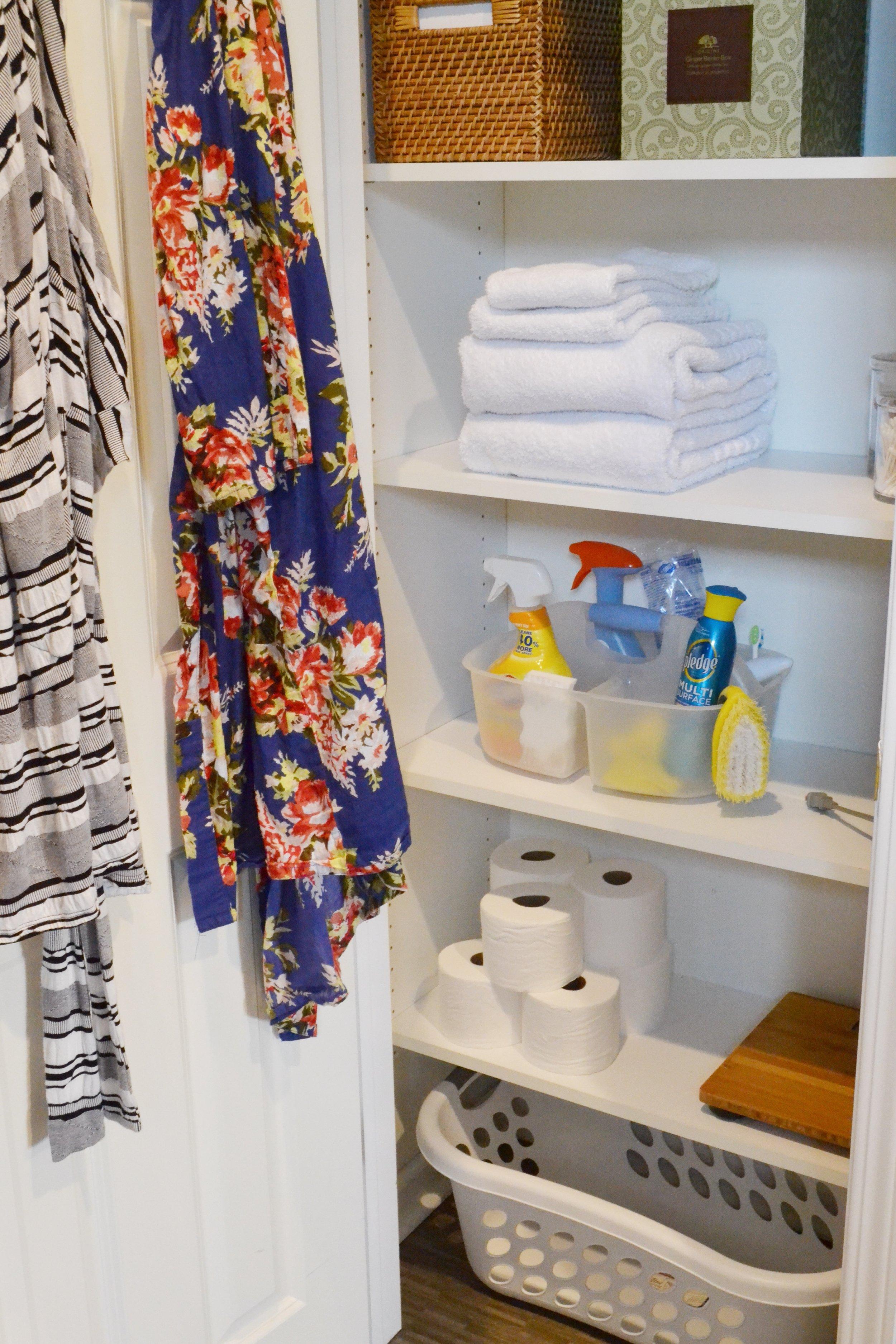 Organized Linen Closet | Image Courtesy of The Baer Minimalist