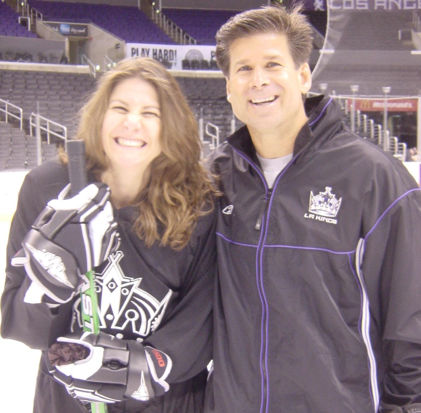 With hockey coach Jim Fox