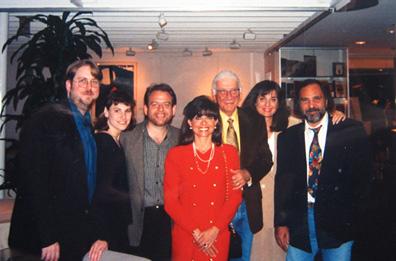 With Richard Kraft, Marc Shaiman, Carole and Jerry Goldsmith, and Bobbi and Basil Poledouris