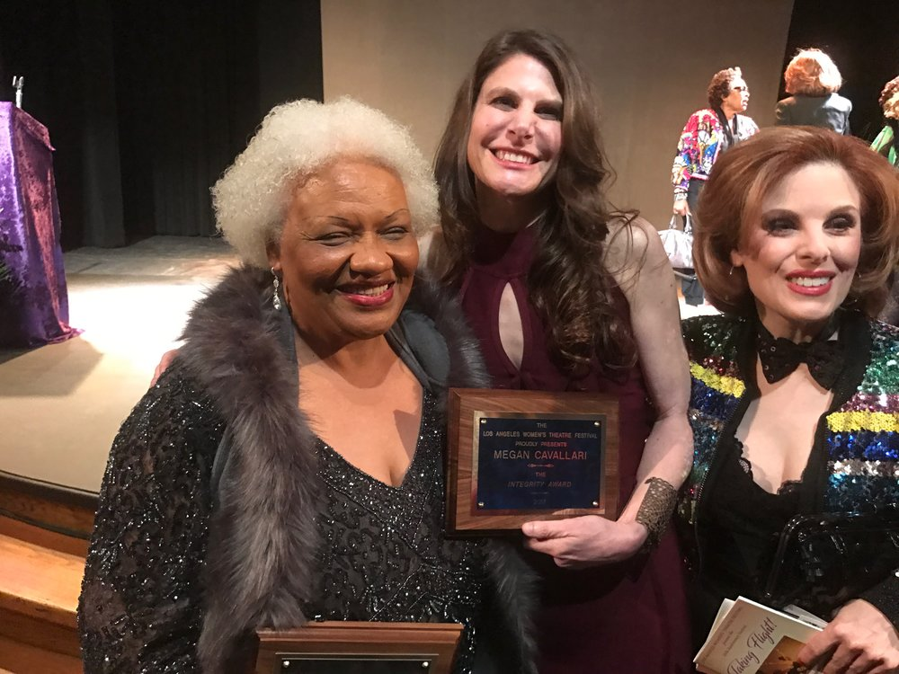 Megan with fellow award recipient Barbara Morrison