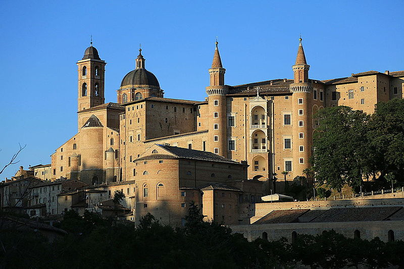 Palazzo Ducale, Urbino, located near the teatro Sanzio where our operas will be performed. Photo by  Fabio Demitri , published without modifications.