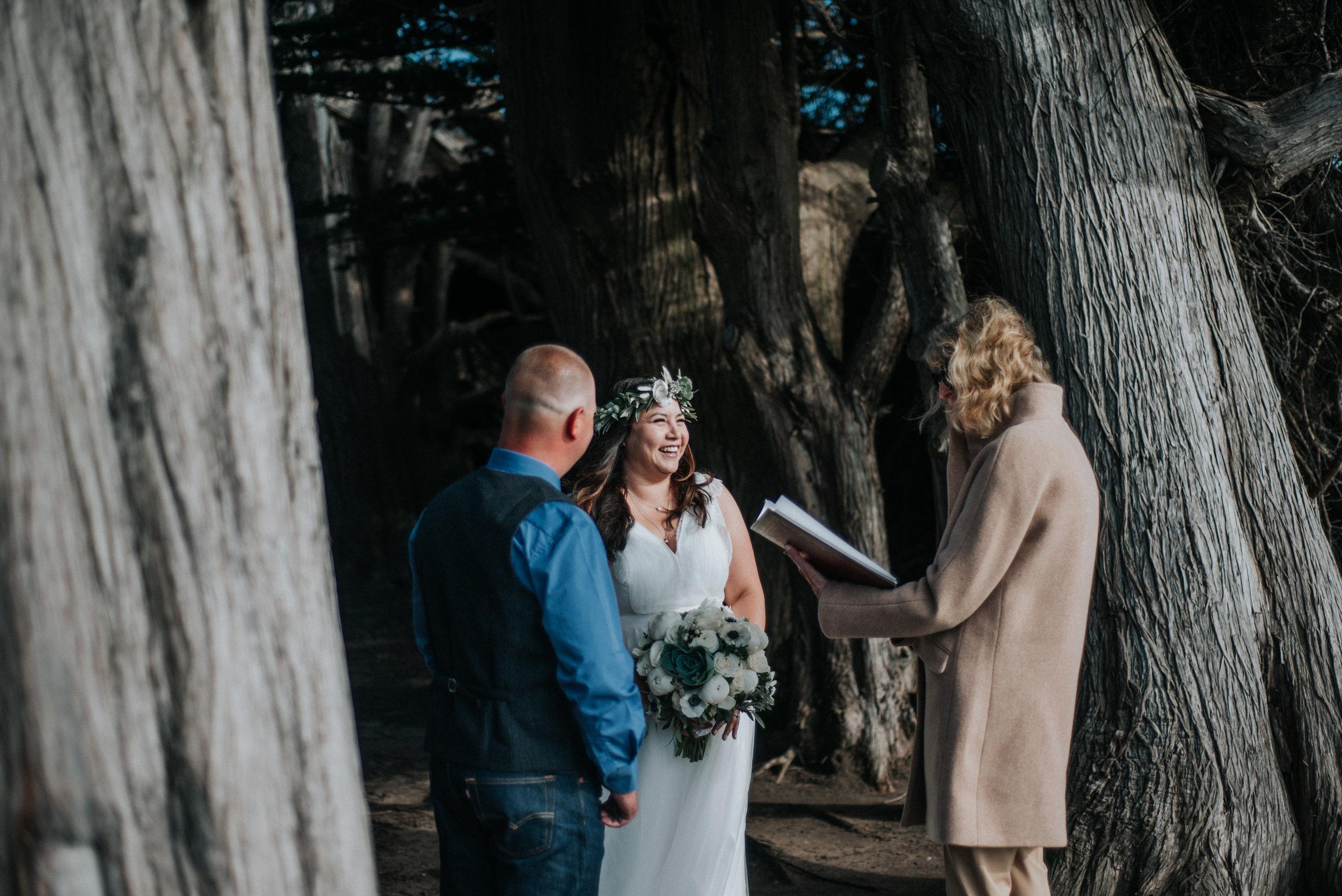 Mendocino Headlands State Park Wedding