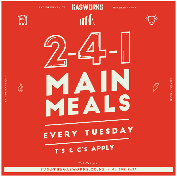 Gasworks 2 for 1 Meals