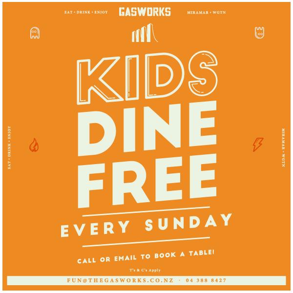 Gasworks Kids Dine Free
