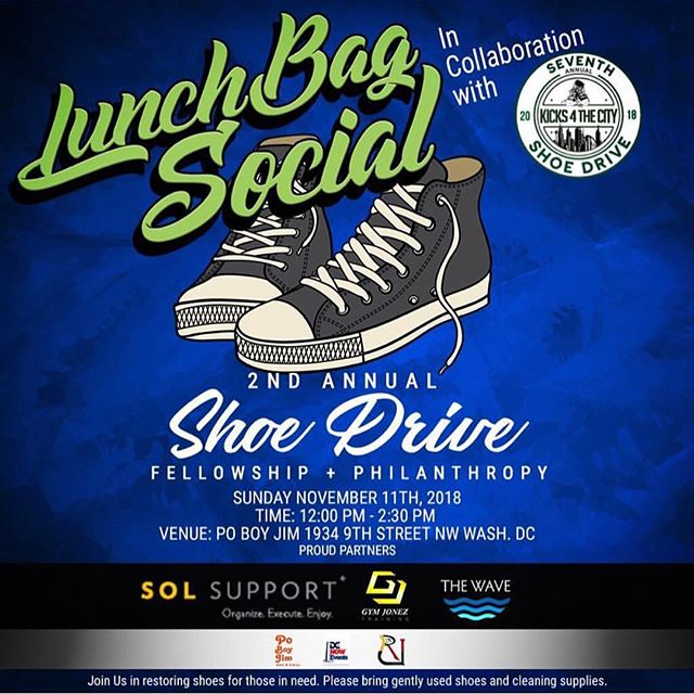 ***SUNDAY*** Everyone bring your gently used shoes!!! I will be spinning from 12 til 2:30pm!!! Definitely stop by @poboyjim for Sunday Funday with @lunchbagsocial and @k4tc