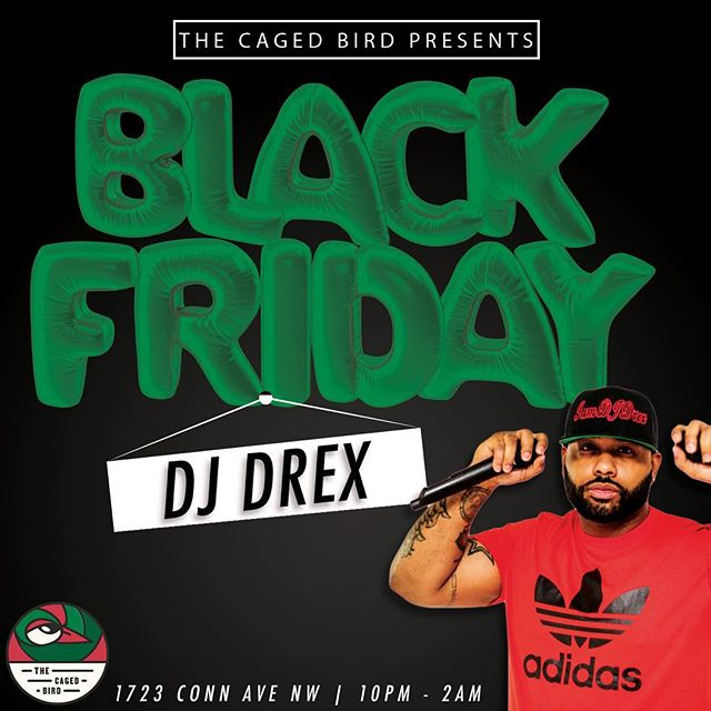 ***TONIGHT*** Find me with my @cagedbirddc family!!! I'll be spinning from 10pm til 2am!!! Let's Get It 🚀🚀🚀