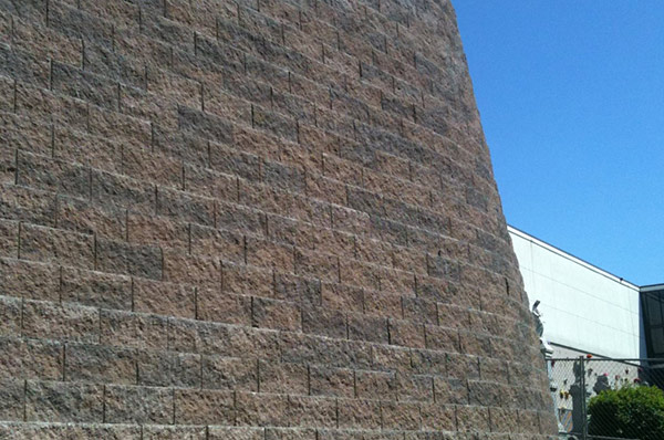Completed Modular Block Retaining Wall in North Bergen, NJ