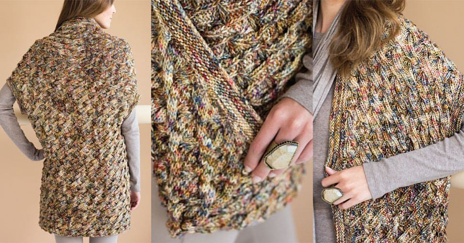 Sleeveless Vest    Vogue Knitting Holiday 2016  By: Unjung Yun