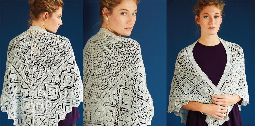 Promenaadi Shawl   Vogue Knitting Spring Summer 2015  By: Nancy Bush