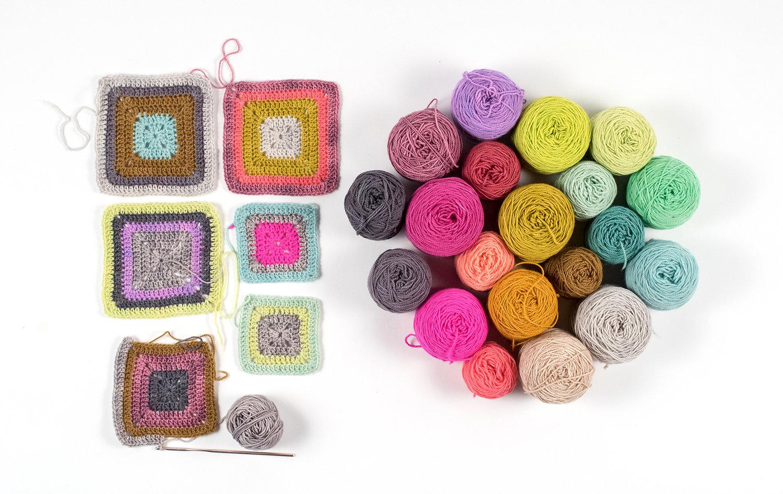 Crochet Summer 2017: Babette Bandwagon - Kate Osborn of Kelbourne Woolens shares her yarn storage find of Koigu bit's which inspired her to start work on the Babette Blanket, designed by Kathy Merrick!
