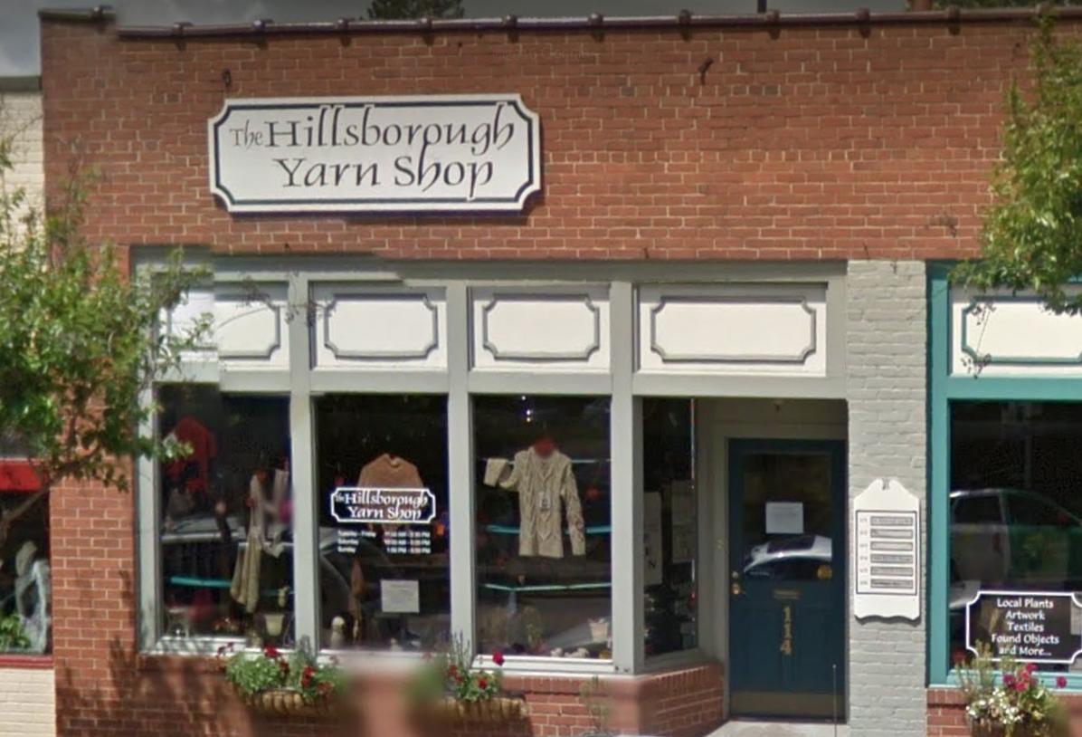 Hillsborough Yarn Shop - Address: 114 SOUTH CHURTON STREET HILLSBOROUGH, NC 27278Phone: (919) 732-2128https://www.hillsboroughyarn.com/